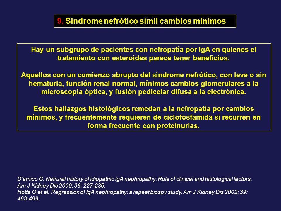 9. Sindrome nefrótico símil cambios mínimos