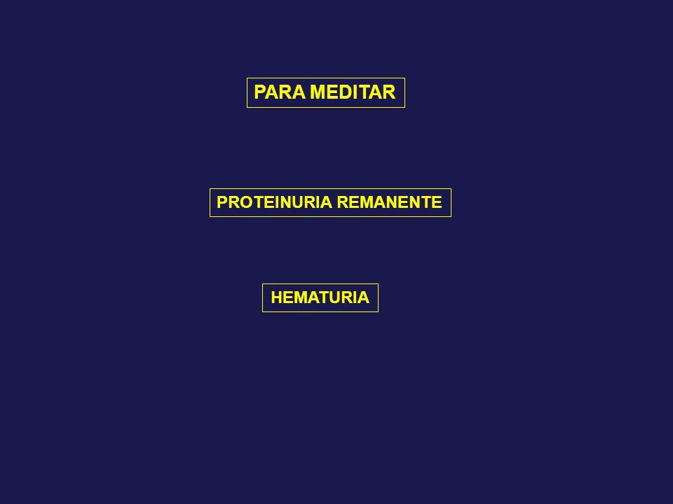 PROTEINURIA REMANENTE