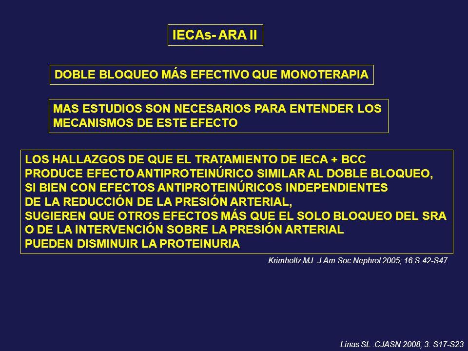IECAs- ARA II DOBLE BLOQUEO MÁS EFECTIVO QUE MONOTERAPIA