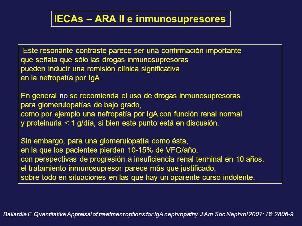 IECAs – ARA II e inmunosupresores