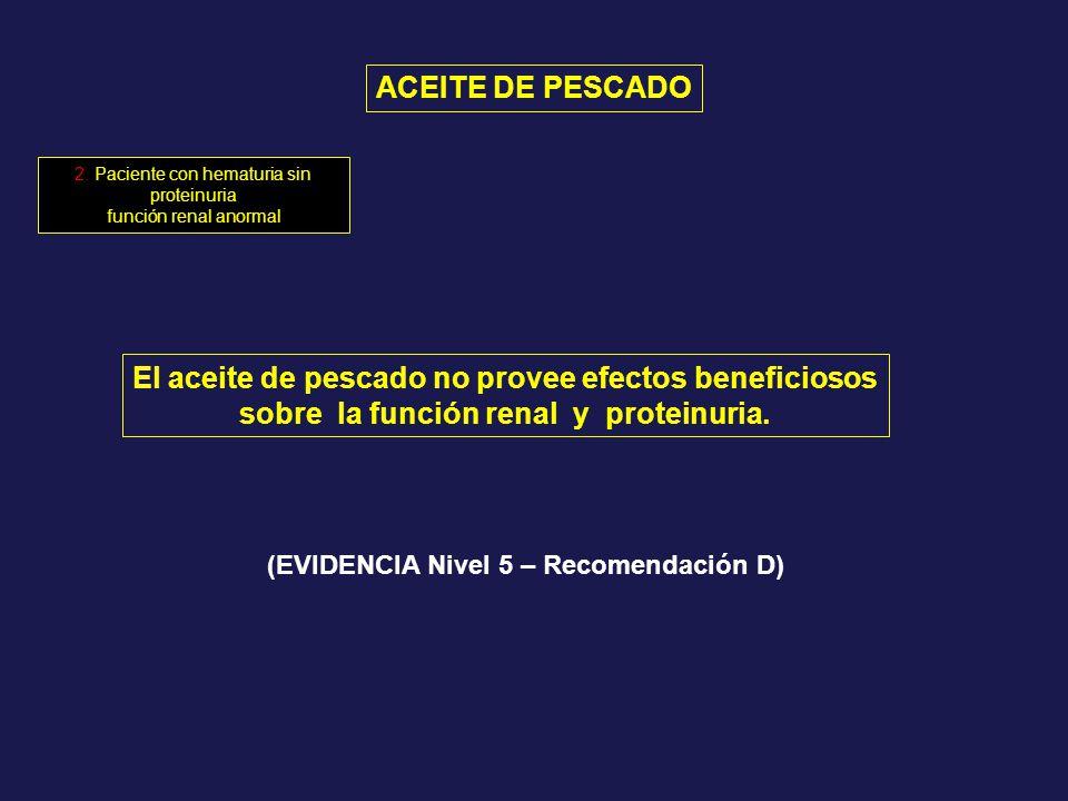 2. Paciente con hematuria sin proteinuria