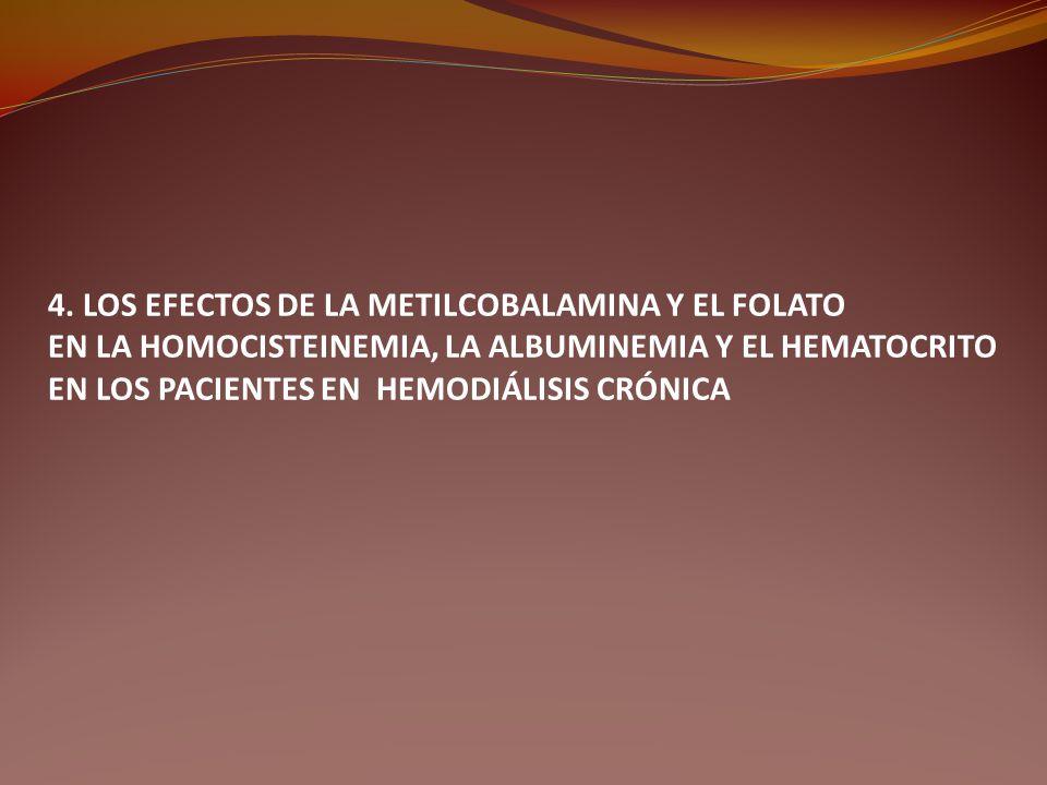 4. LOS EFECTOS DE LA METILCOBALAMINA Y EL FOLATO