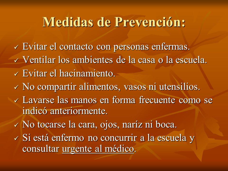 Medidas de Prevención: