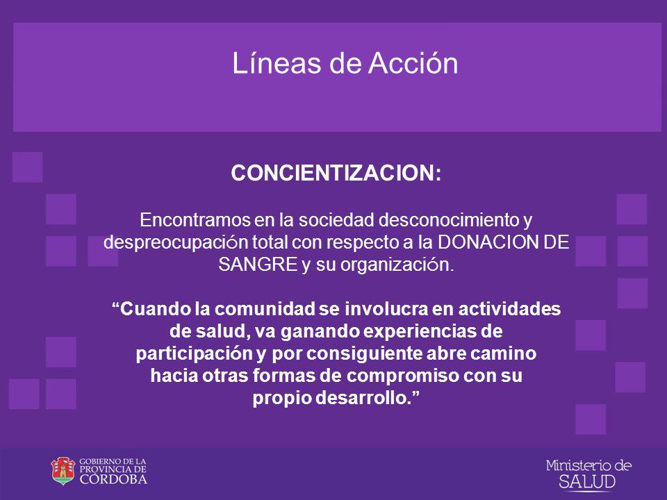 Líneas de Acción CONCIENTIZACION: