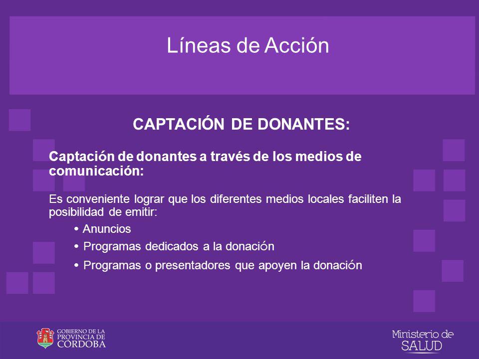 CAPTACIÓN DE DONANTES: