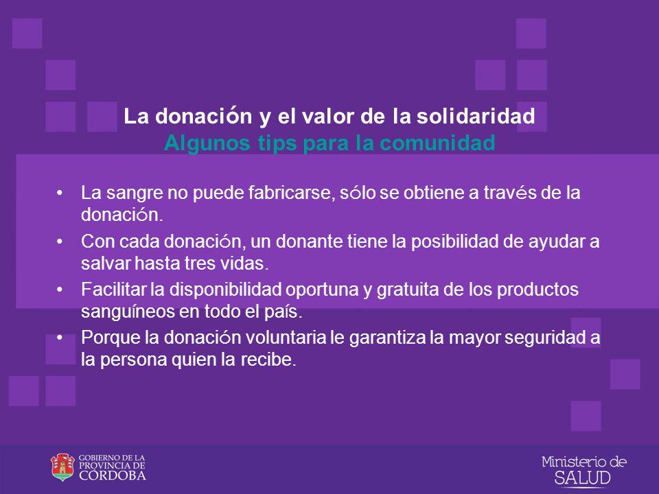 La donación y el valor de la solidaridad