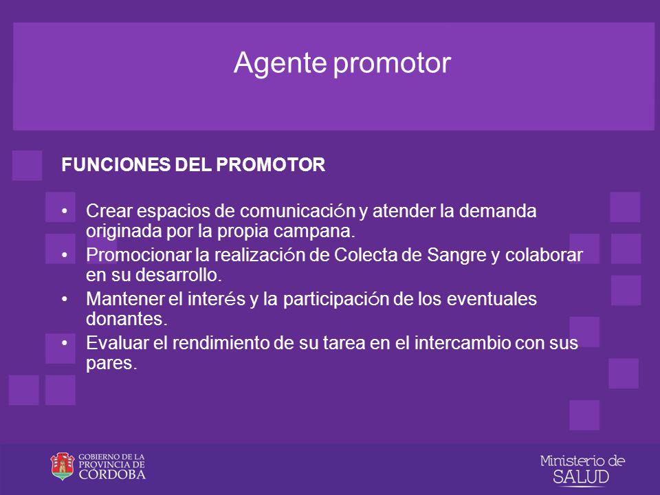 Agente promotor FUNCIONES DEL PROMOTOR