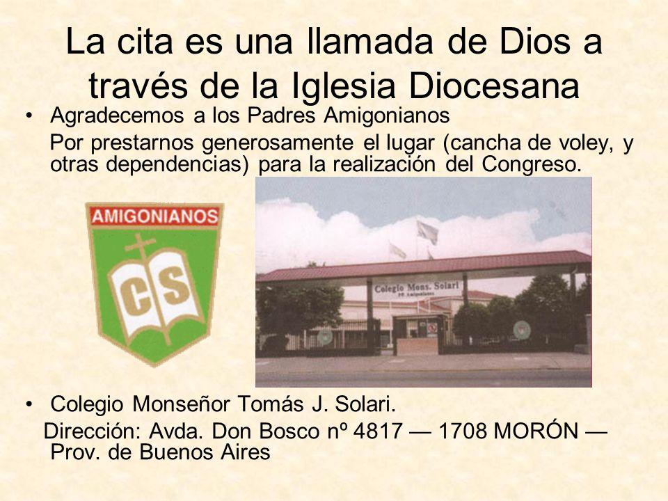 La cita es una llamada de Dios a través de la Iglesia Diocesana
