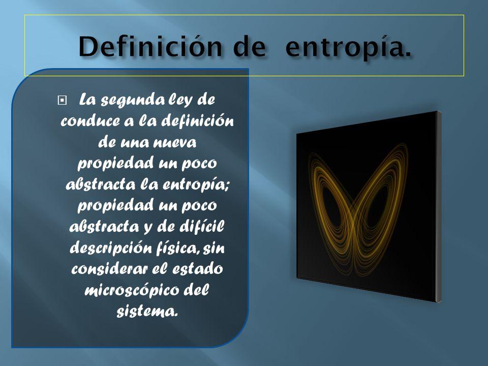 Definición de entropía.