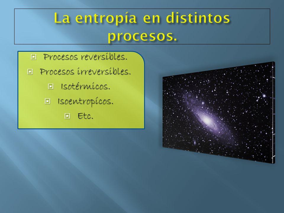 La entropía en distintos procesos.