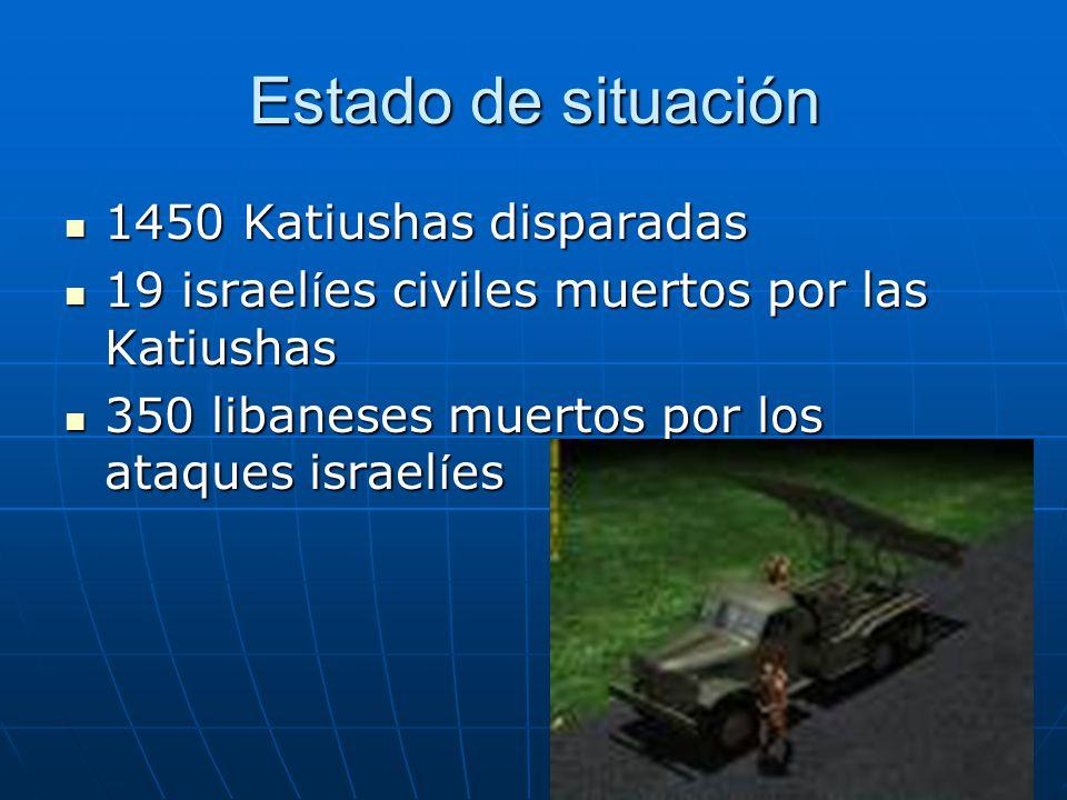 Estado de situación 1450 Katiushas disparadas
