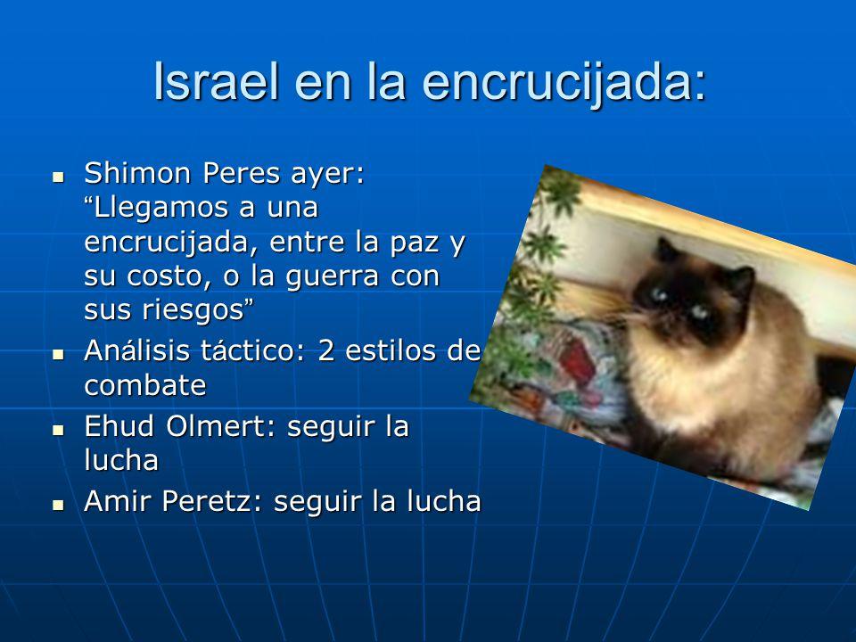Israel en la encrucijada: