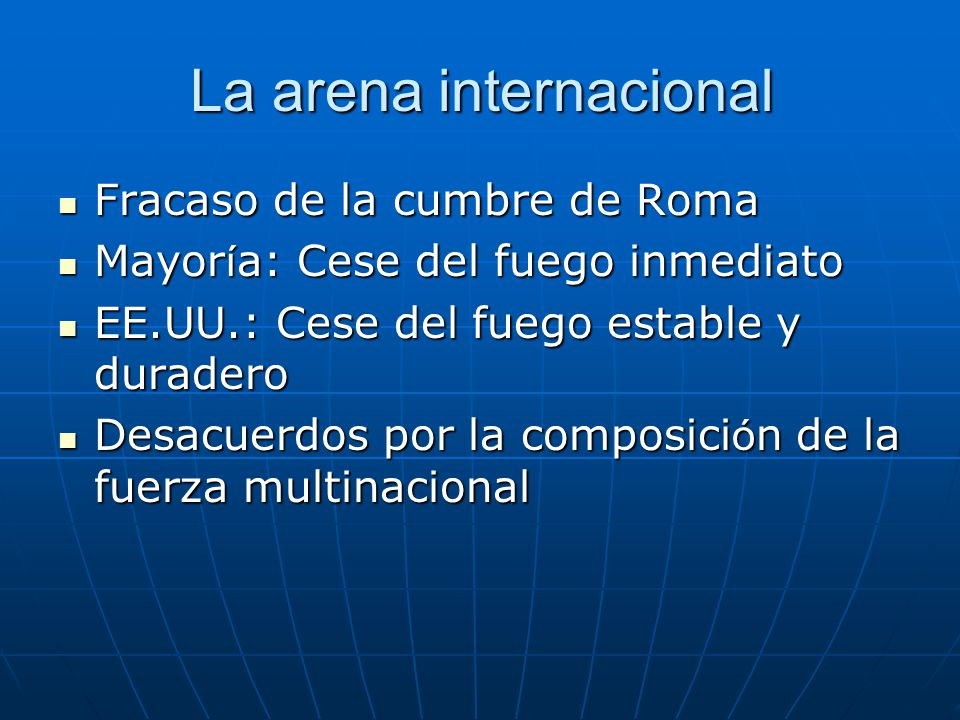 La arena internacional