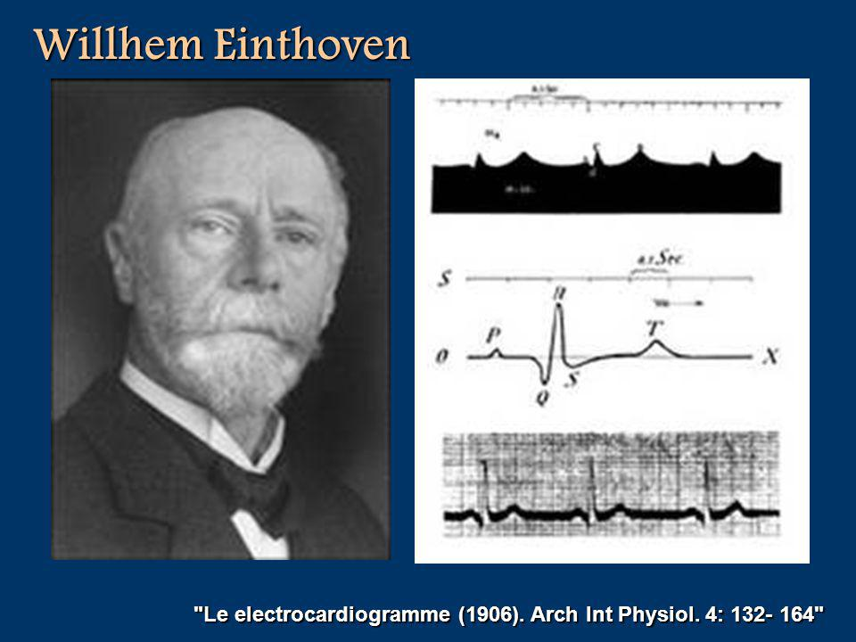 Willhem Einthoven Le electrocardiogramme (1906). Arch Int Physiol. 4: 132- 164