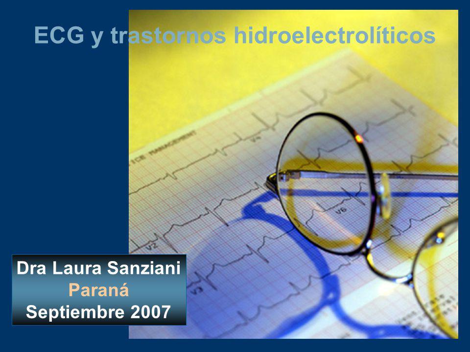 ECG y trastornos hidroelectrolíticos