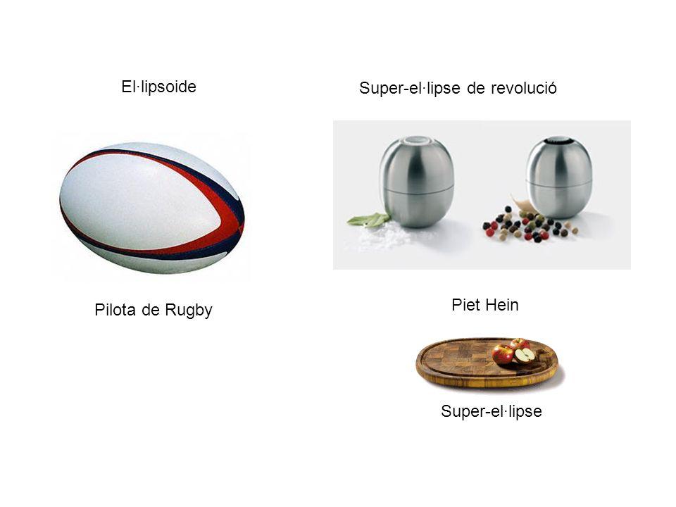 El·lipsoide Super-el·lipse de revolució Piet Hein Pilota de Rugby Super-el·lipse