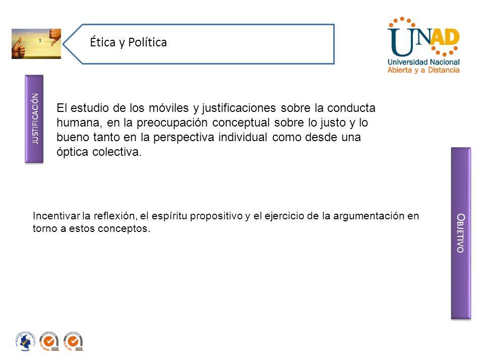 Ética y Política justificación.