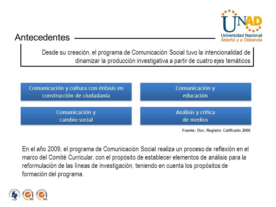 Comunicación y cultura con énfasis en construcción de ciudadanía