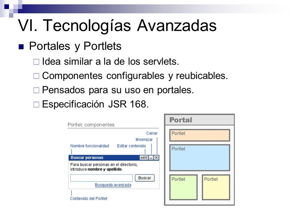 VI. Tecnologías Avanzadas