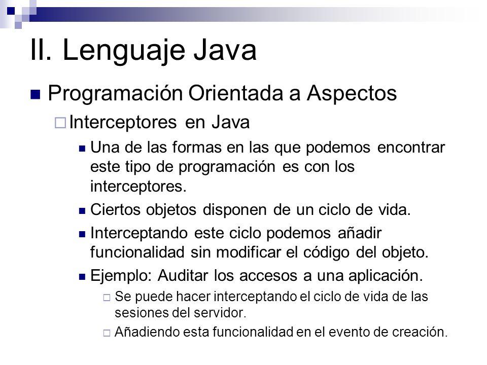 II. Lenguaje Java Programación Orientada a Aspectos