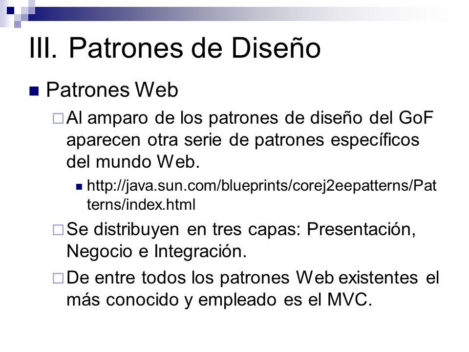 III. Patrones de Diseño Patrones Web