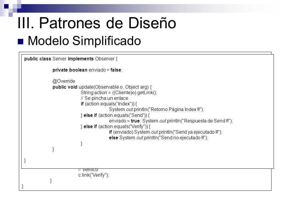III. Patrones de Diseño Modelo Simplificado