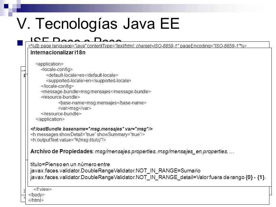V. Tecnologías Java EE JSF Paso a Paso