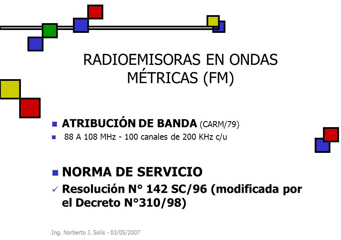 RADIOEMISORAS EN ONDAS MÉTRICAS (FM)
