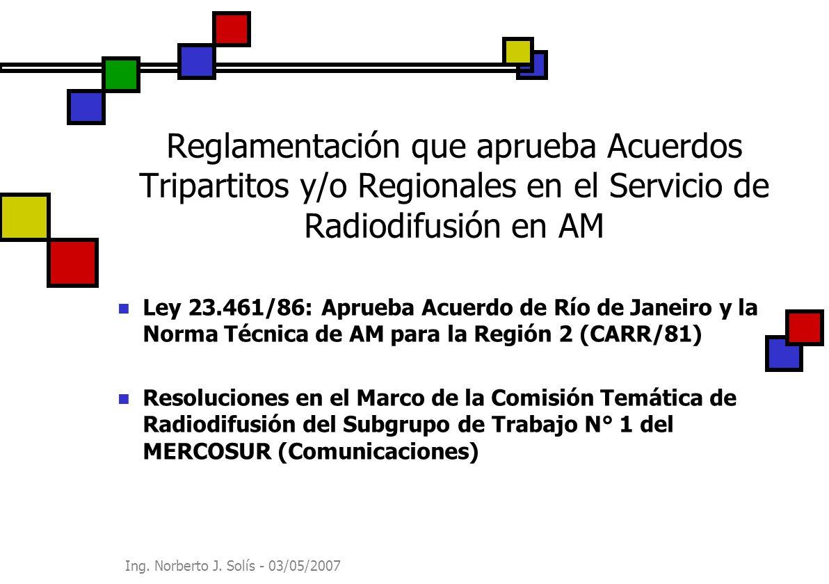 Reglamentación que aprueba Acuerdos Tripartitos y/o Regionales en el Servicio de Radiodifusión en AM
