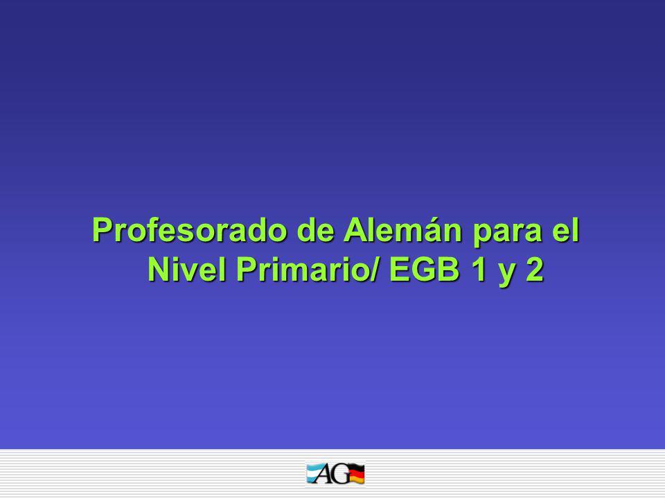 Profesorado de Alemán para el Nivel Primario/ EGB 1 y 2