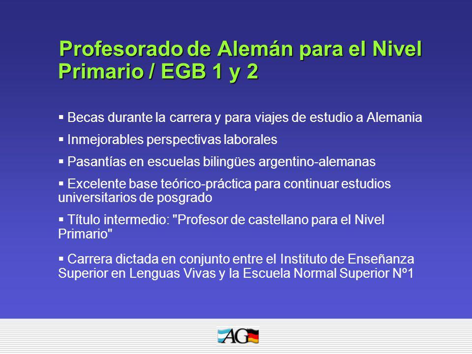 Profesorado de Alemán para el Nivel Primario / EGB 1 y 2