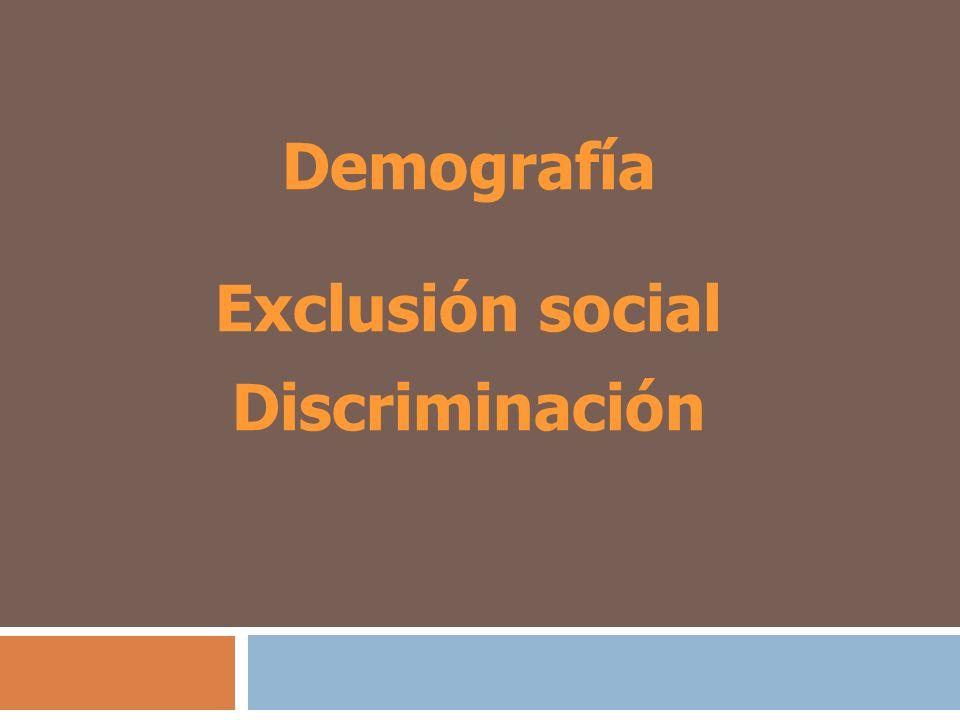 Demografía Exclusión social Discriminación