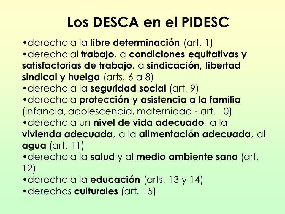 Los DESCA en el PIDESC derecho a la libre determinación (art. 1)
