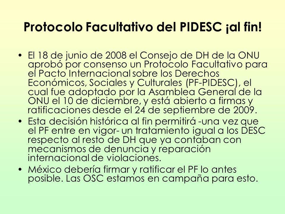 Protocolo Facultativo del PIDESC ¡al fin!