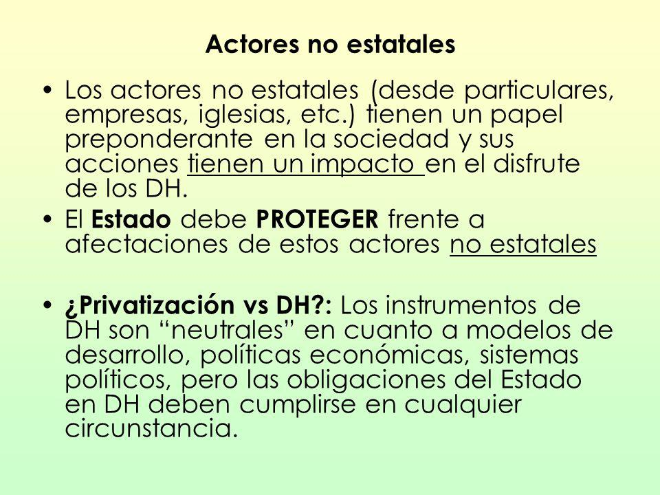 Actores no estatales
