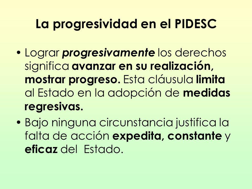 La progresividad en el PIDESC