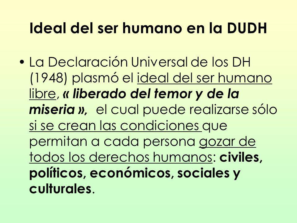 Ideal del ser humano en la DUDH