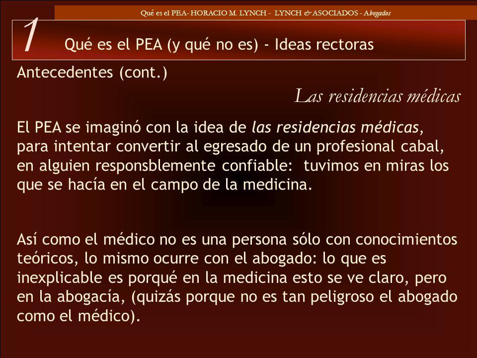 1 Las residencias médicas Qué es el PEA (y qué no es) - Ideas rectoras