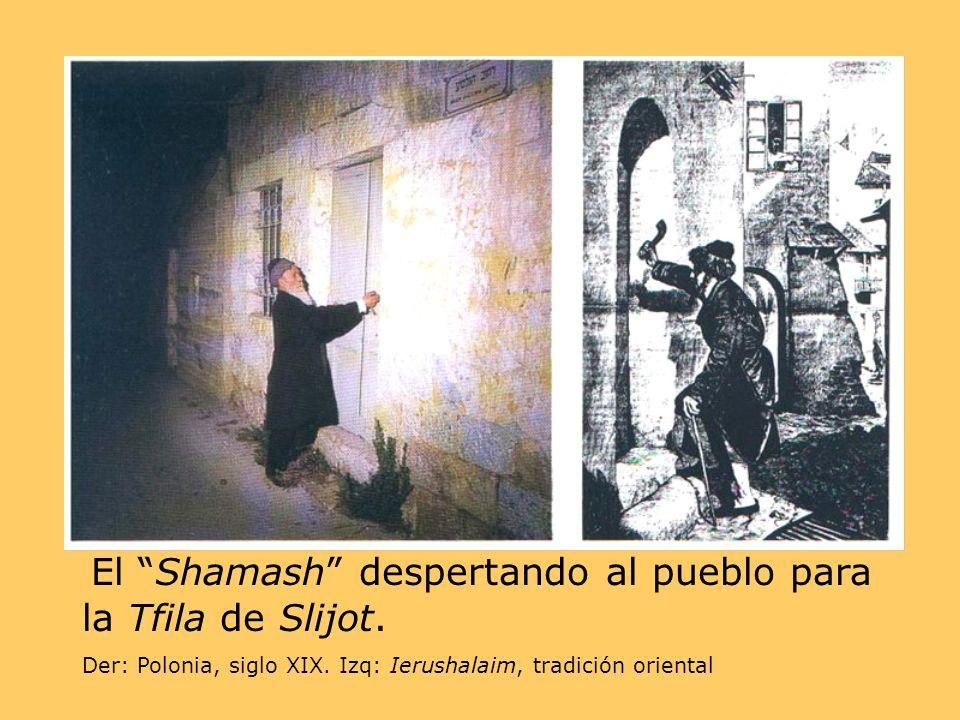 El Shamash despertando al pueblo para la Tfila de Slijot.