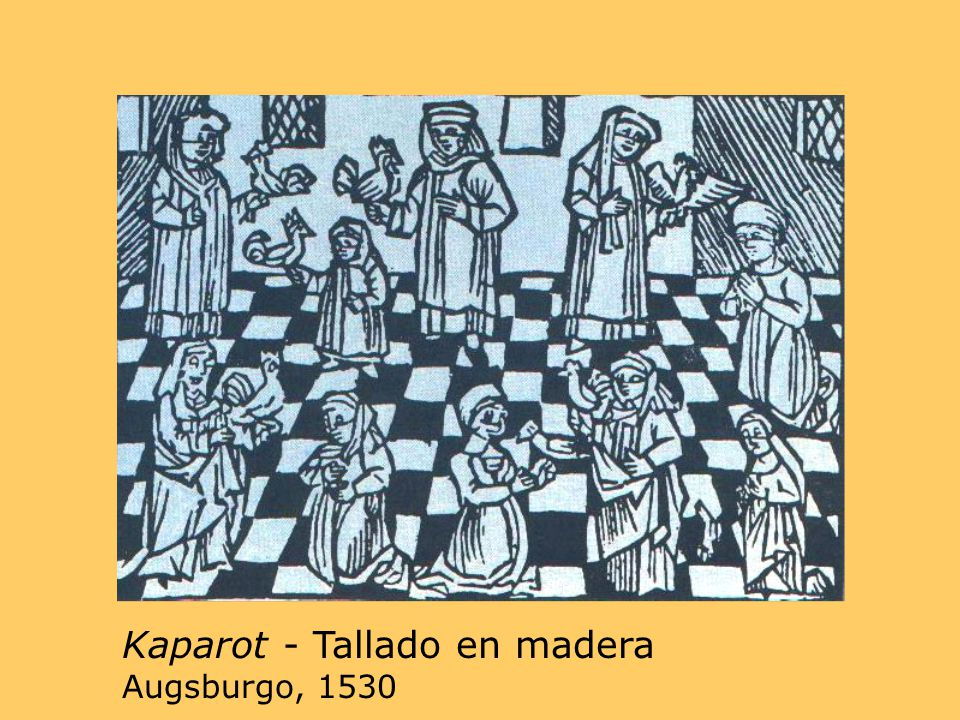 Kaparot - Tallado en madera Augsburgo, 1530