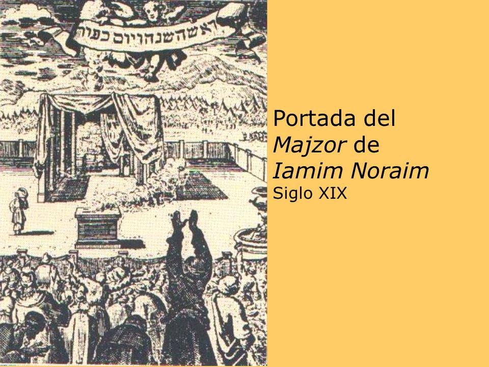 Portada del Majzor de Iamim Noraim Siglo XIX