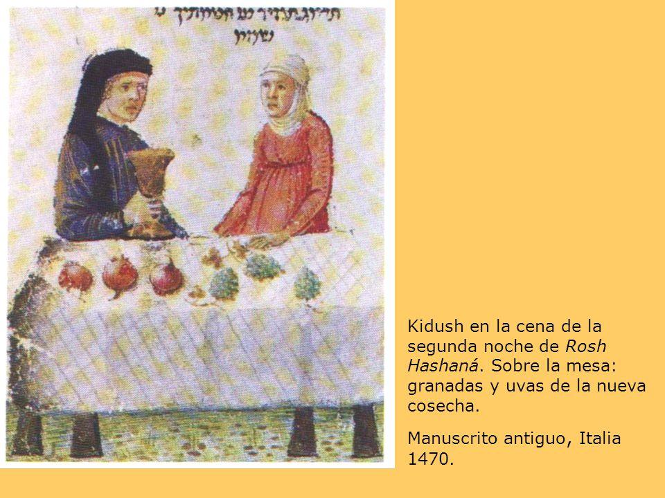 Kidush en la cena de la segunda noche de Rosh Hashaná