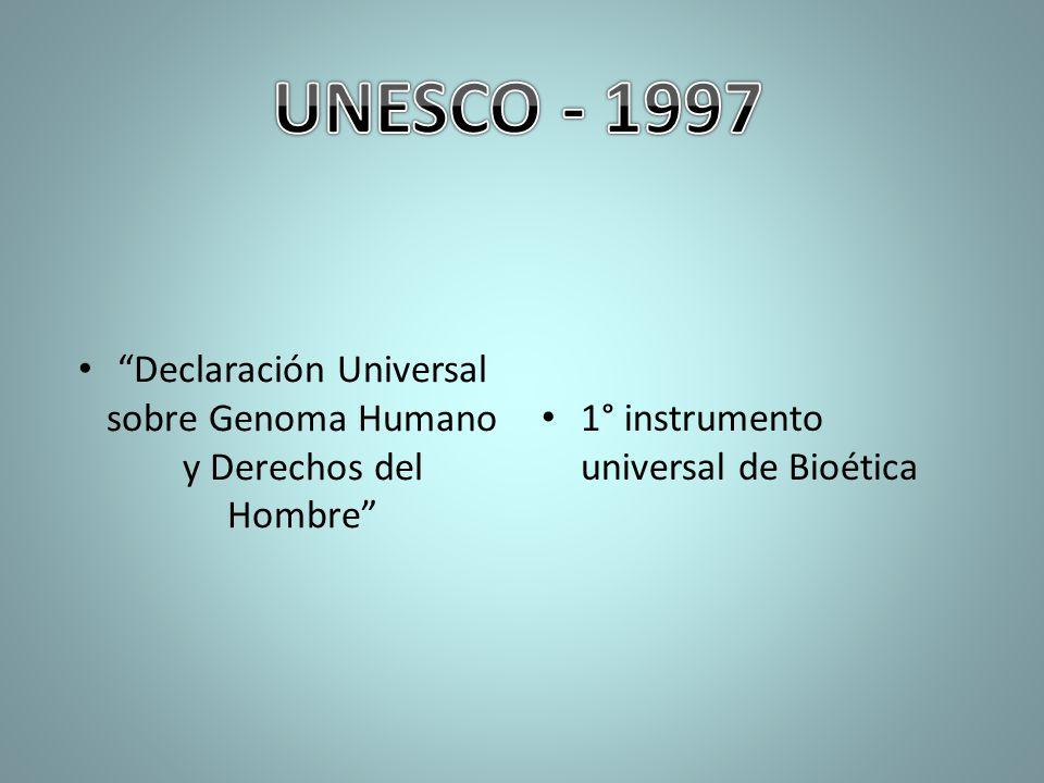 Declaración Universal sobre Genoma Humano y Derechos del Hombre