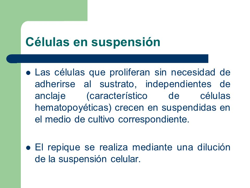 Células en suspensión
