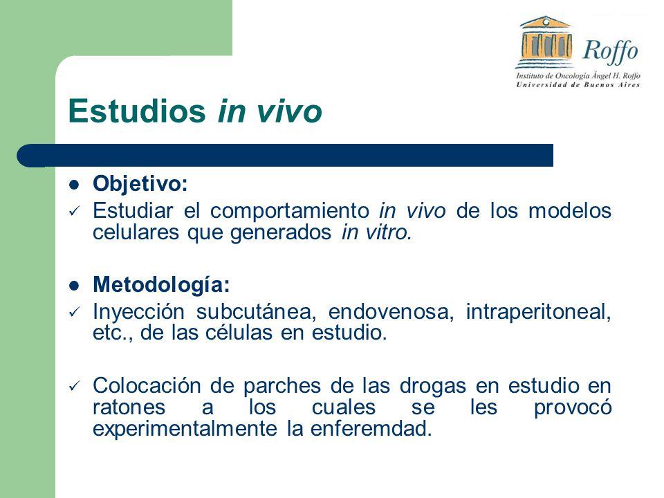Estudios in vivo Objetivo: