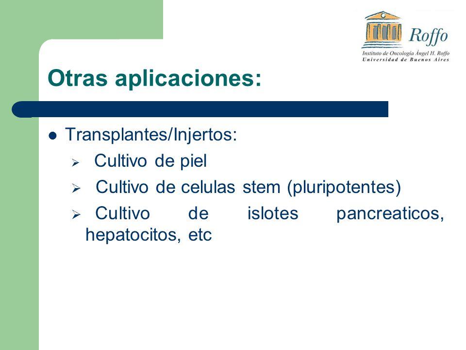 Otras aplicaciones: Transplantes/Injertos: