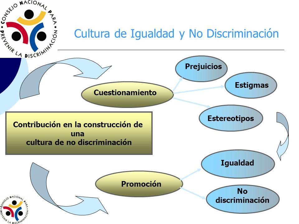 Contribución en la construcción de cultura de no discriminación