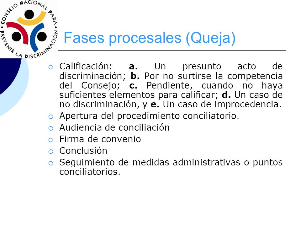 Fases procesales (Queja)