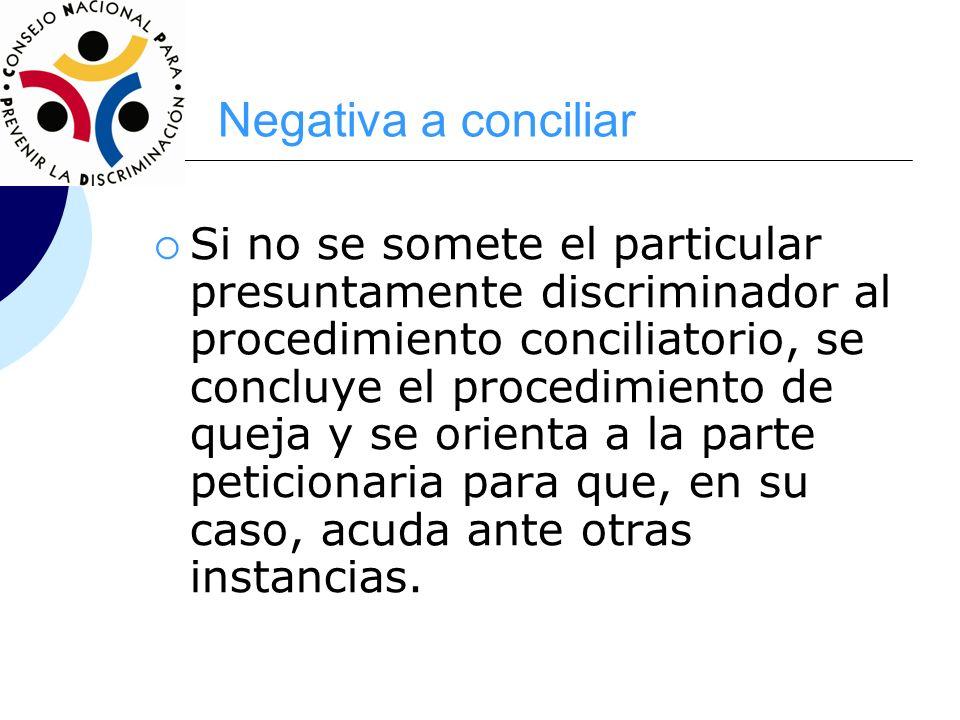 Negativa a conciliar