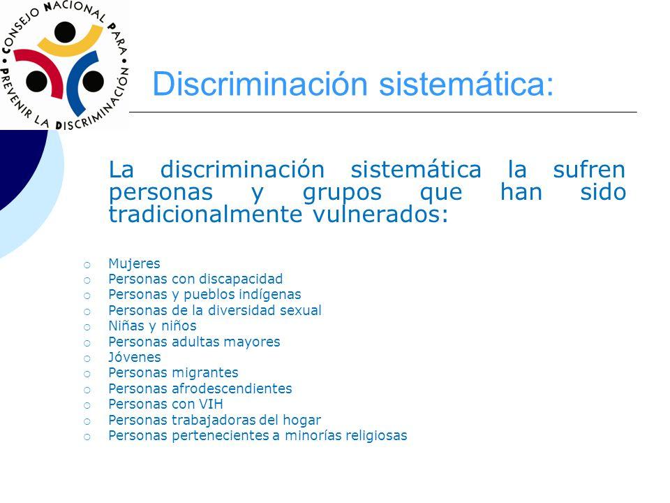 Discriminación sistemática: